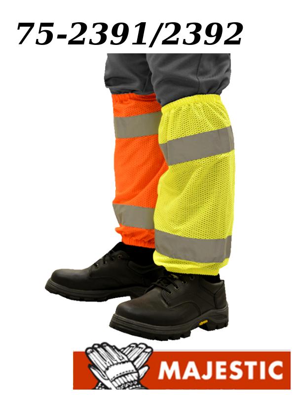 Majestic 75-2391/75-2392, High Visibility Leg Gaiters ANSI Class E/$ per Pair
