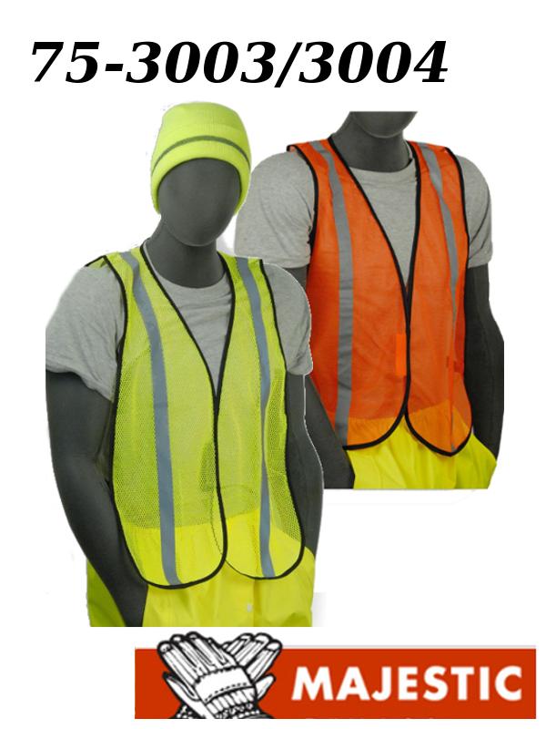Majestic 75-3003/3004, Hi Vis Polyester Vest - NON ANSI/$ per Vest MUST Purchase 50