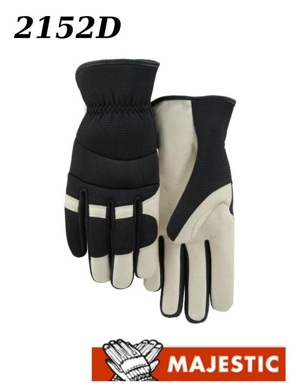 Majestic 2152D, Pigskin Palm, Slip On Gloves/$ per Dozen