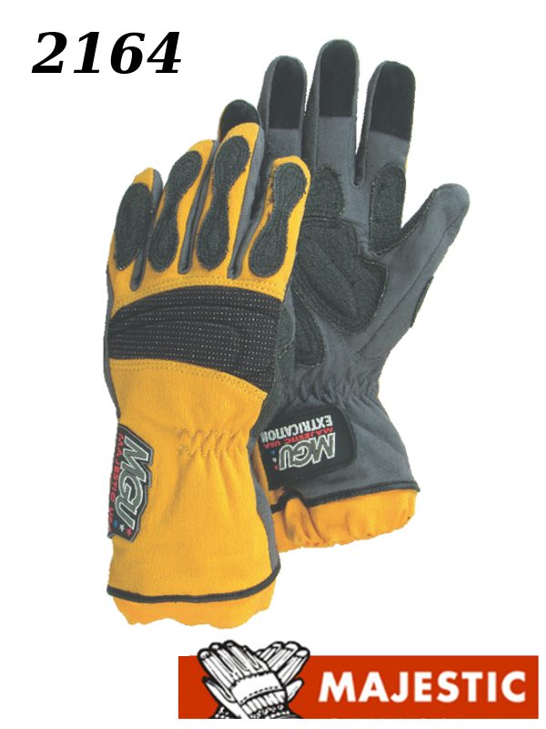 Majestic 2164, Extrication Gloves, Anti Vibration, Reinforced Patches, Long Version/$ per Pair
