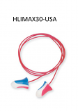 Howard Leight by Honeywell MAX30-USA Single Use Max Bell Shape Polyurethane Foam Corded Earplugs With Poly Cord (1 Pair Per Poly Bag, 100 Pair Per Box)