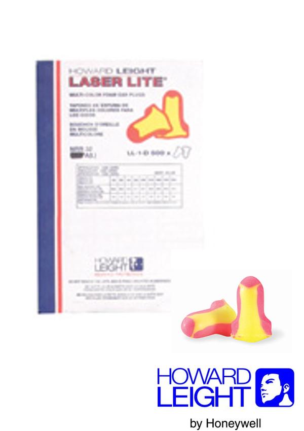 Howard Leight by Honeywell Single Use Laser-Lite T-Shape Polyurethane Foam Uncorded Earplugs (500 Pair Per Leight Source 500 Dispenser Refill)