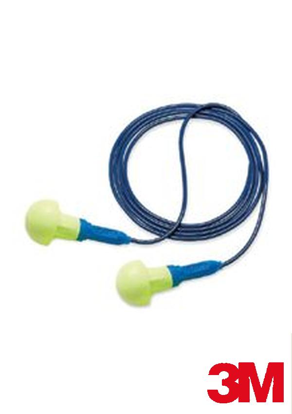 3M Multiple Use Push-Ins Push-to-Fit Polyurethane Foam Corded Earplugs With Vinyl Cord (1 Pair Per Poly Bag, 500 Pair Per Box)