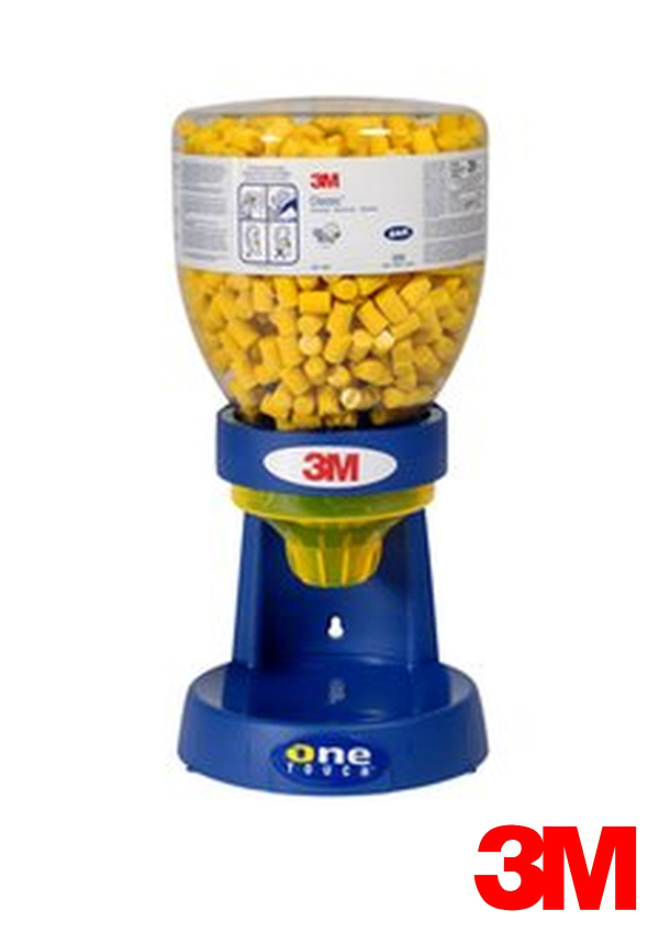 3M One Touch Plastic Earplugs Dispenser With No Waste Funnel (Earplugs Sold Separately)