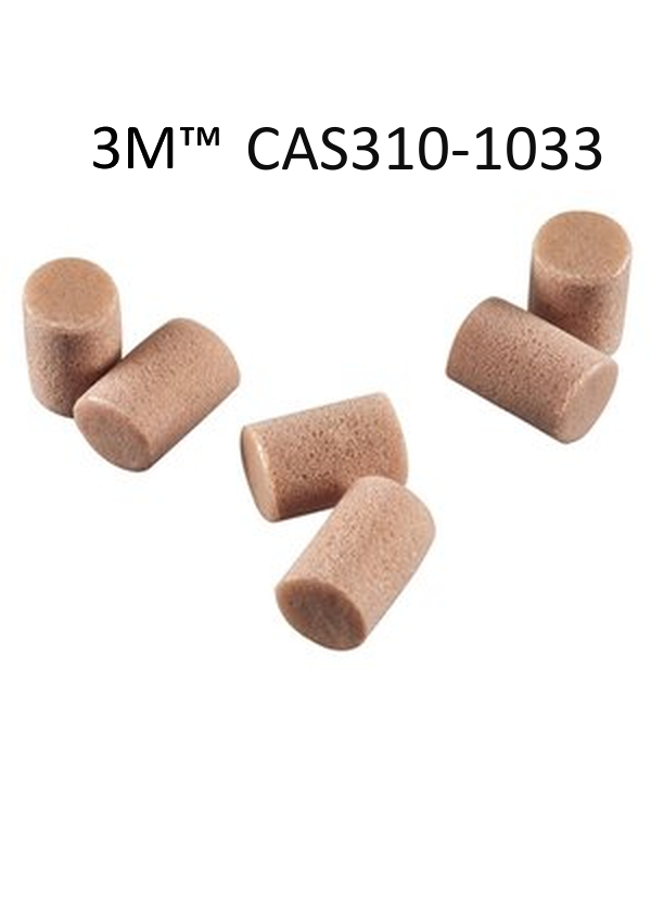 3M 310-1033, Single Use E-A-R Noise Filter, Cylinder Shaped, Natural Color, PVC And Foam, Uncorded Earplugs (2000 Pair Per Case)