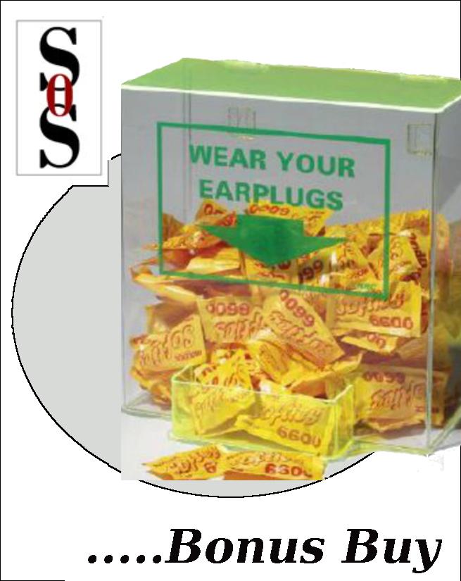 Large Earplug Dispenser (Earplugs Sold Separately)