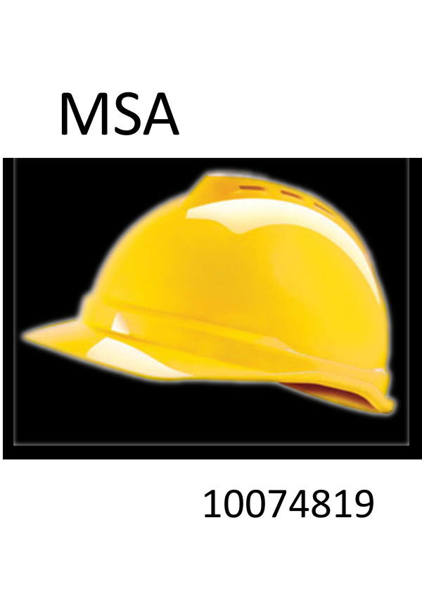 MSA Hi-Viz Yellow Green, V-Gard® 500 Class C Type I Polyethylene Vented Hard Cap With Fas-Trac® 4 Point Suspension And Glaregard™ Underbrim