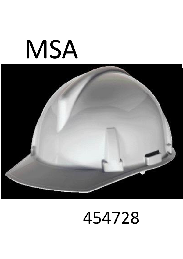 MSA White TopGard®, Class E Type I, Polycarbonate, Slotted Hard Cap With 1-Touch™ Suspension