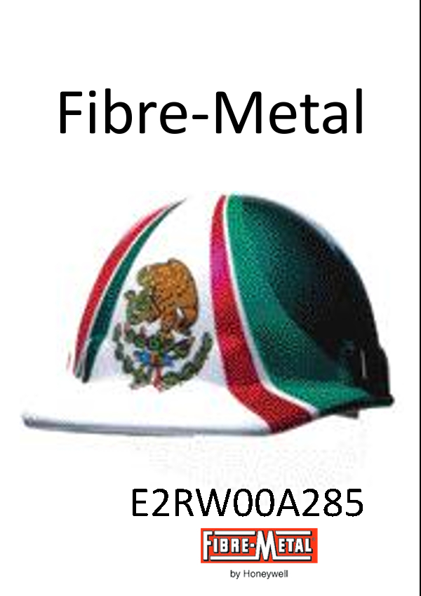 Fibre-Metal E2RW00A285, Cap Style Hard Hat with Mexican Flag Graphic, SuperEight Rachet Suspension/$ per Each