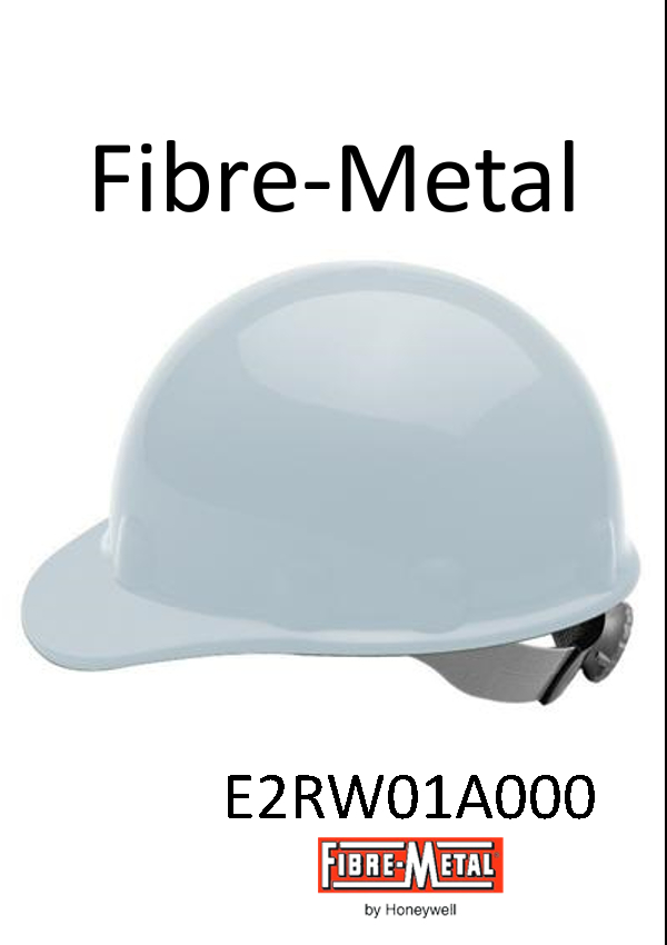 Fibre-Metal® White SuperEight Hard Hat, with Ratchet Suspension