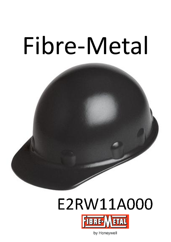 Fibre-Metal® Black SuperEight Hard Hat with Ratchet Suspension