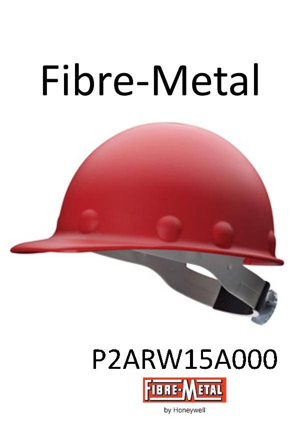 Fibre-Metal® Red, Roughneck® P2A Series, Fiberglass Hard Cap with Ratchet Suspension