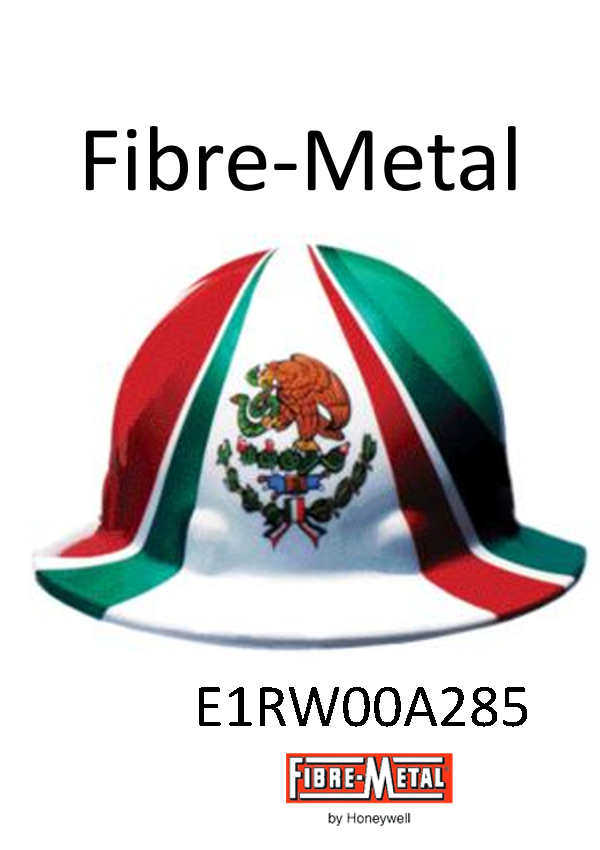 Fibre-Metal E1RW00A285, Full Brim Hard Hat Mexican Flag Graphic, SuperEight Rachet Suspension/$ per Case of 16 ONLY TOTAL $626.80