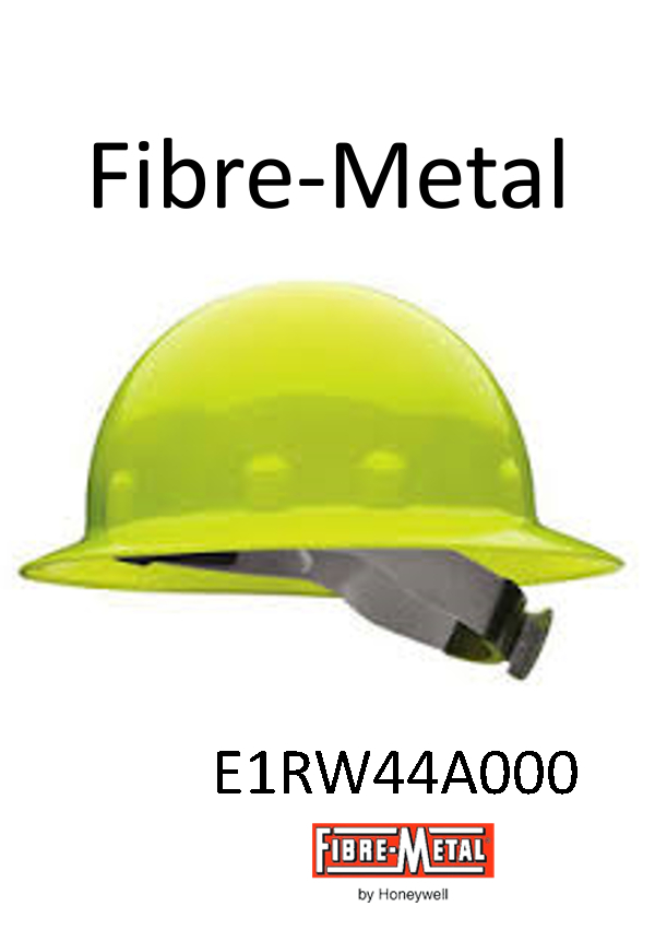 Fibre-Metal® E1RW44A000, Hi-Viz Yellow, SuperEight™ Full Brim Hard Hat