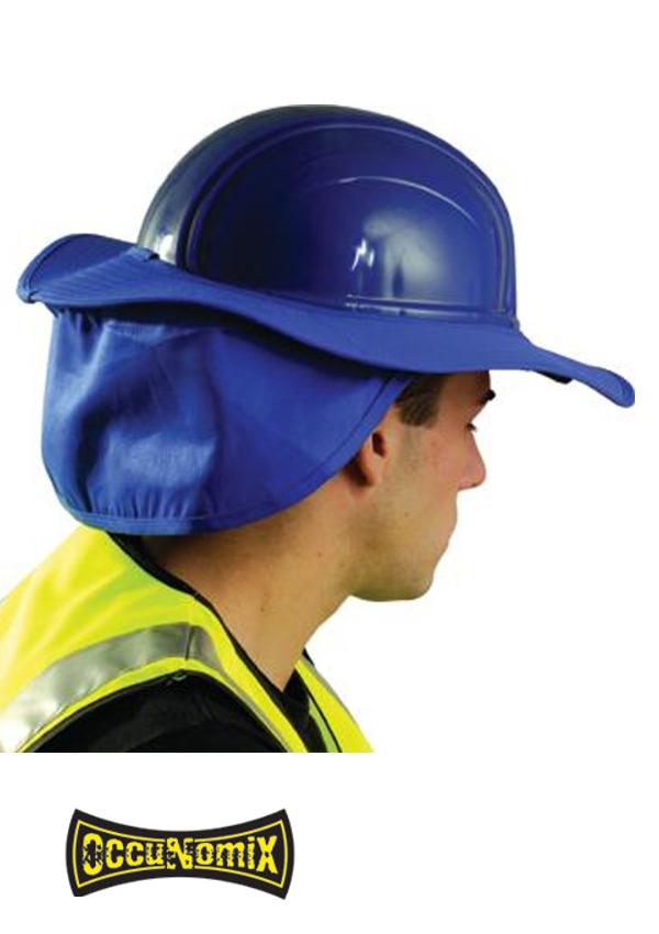 OccuNomix Royal Blue Cotton Hard Hat Shade