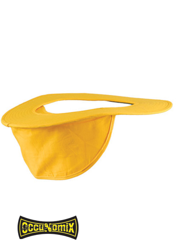 OccuNomix Yellow Cotton Hard Hat Shade