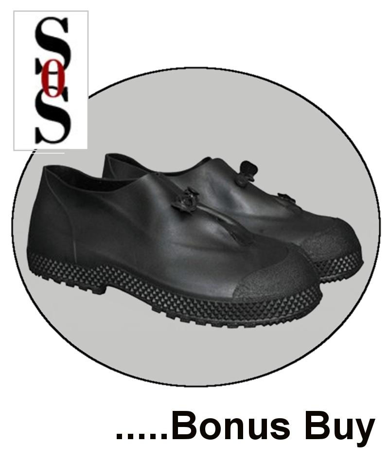 "4"" Black PVC Slip-On Over-Boots"