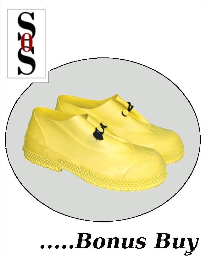 "4"" Yellow Slip-On Overboots"