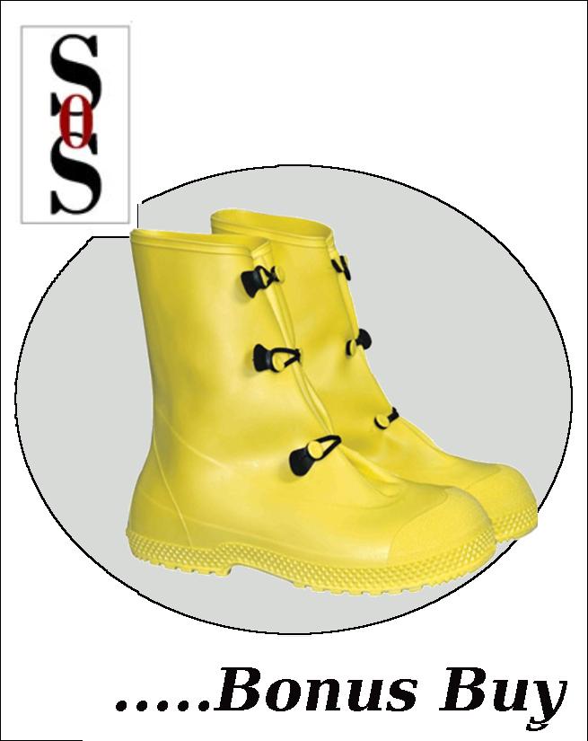 "12""  Yellow PVC Slip-On Overboots"