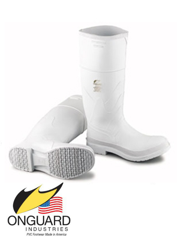 """Onguard Industries 16"""" White PVC Boots"""