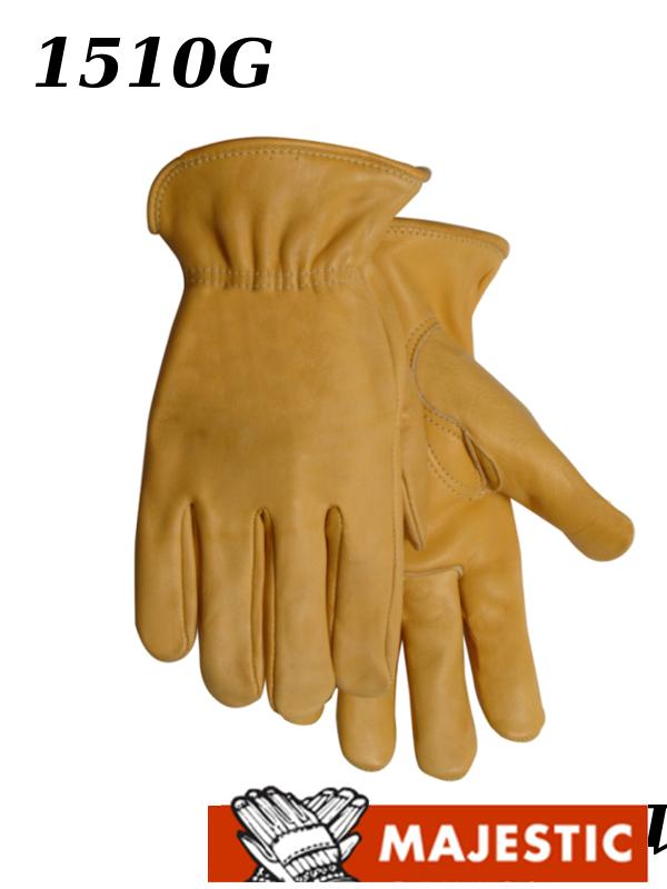 Majestic 1510G, Gold Cowhide Leather Driver Gloves/$ per Dozen