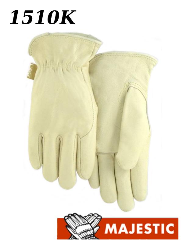 Majestic 1510K, Cream Cowhide Leather Driver Gloves Kevlar Sewn/$ per Dozen