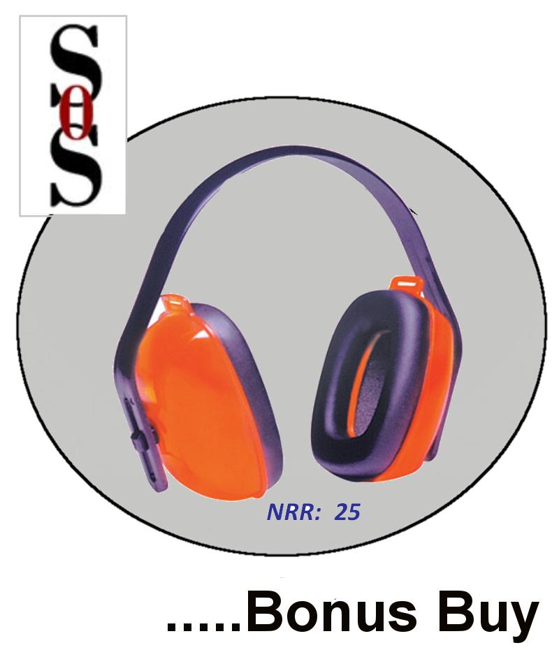 Multi Position Orange Dielectric Earmuffs