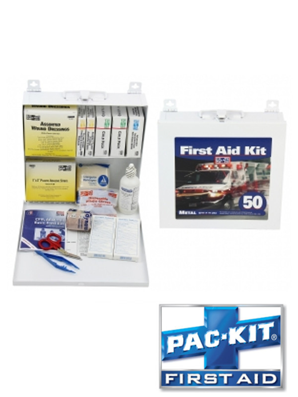 ANSI Plus 50 Person Steel Box Kit - 207 Items