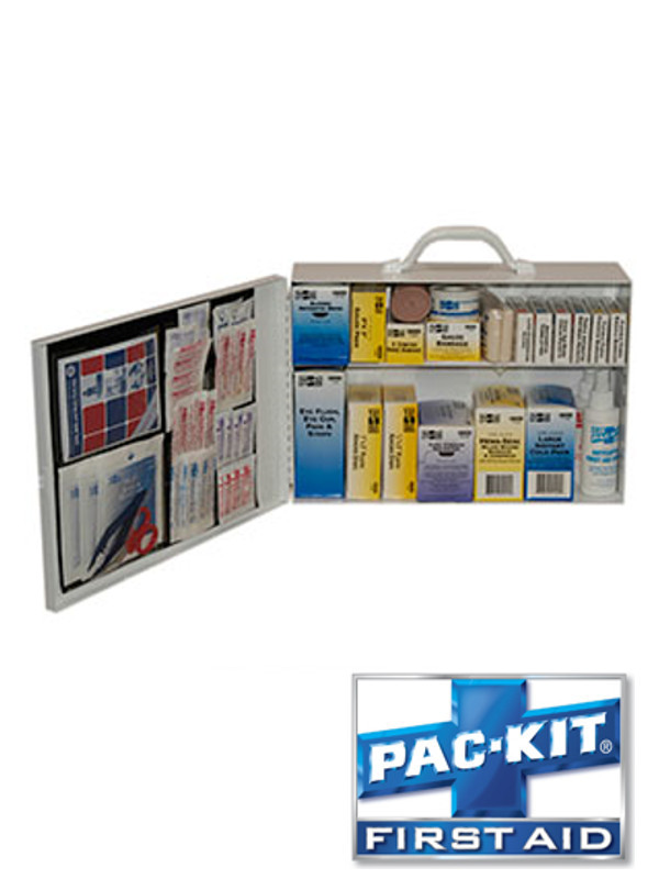 Two Shelf First Aid Station with Door Pouch