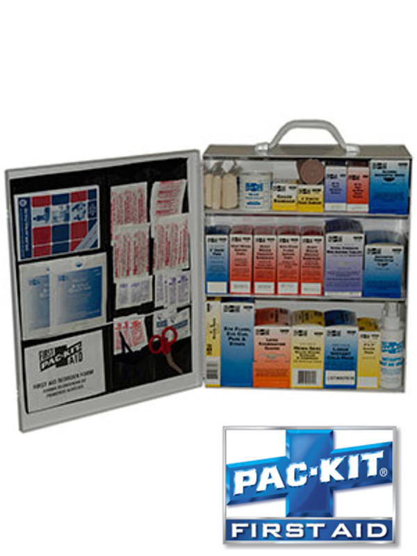 Three Shelf First Aid Station with Door Pouch