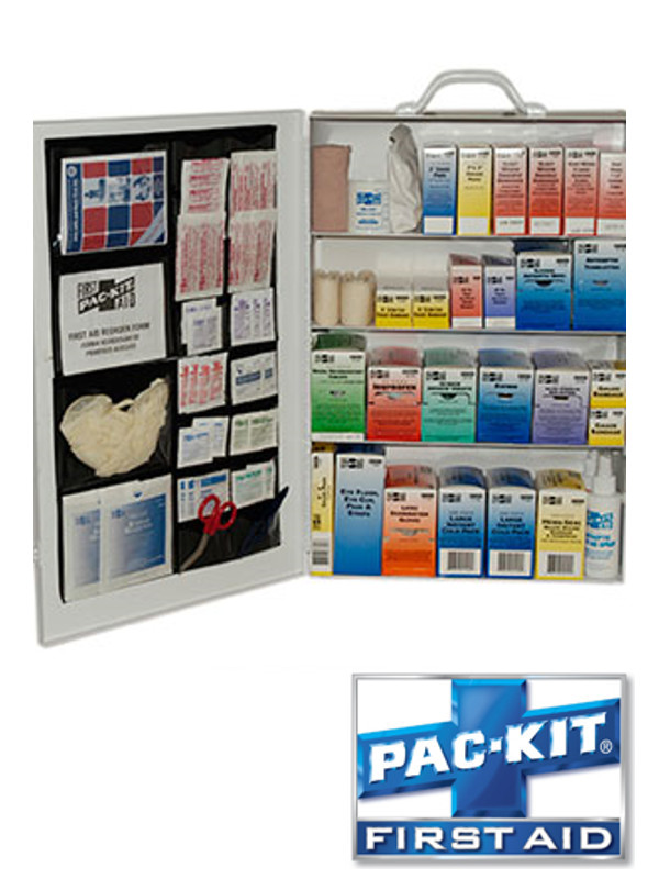 Four Shelf First Aid Station with Door Pouch