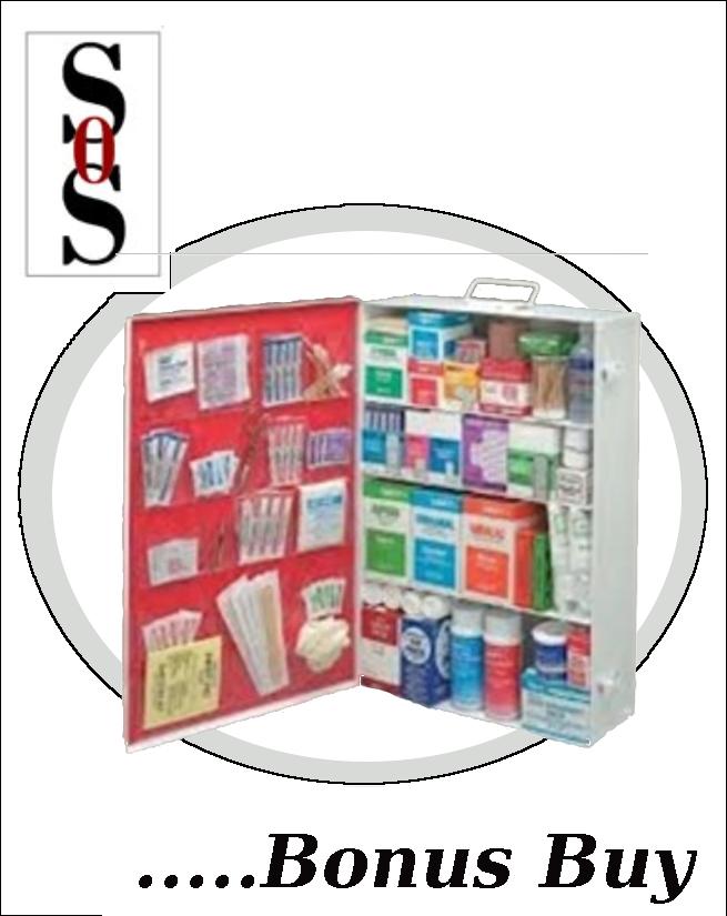 50 Person Bulk Sturdy Metal First Aid Cabinet