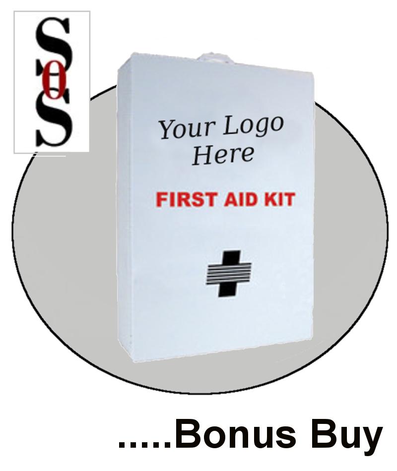 100 Person Bulk Sturdy Metal First Aid Cabinet