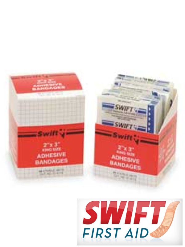 """2"""" X 3"""" Tray King Size Plastic Wound Patch /50 Per Box"""