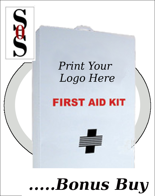 Empty Four-Shelf 50 Person First Aid Cabinet/Liner