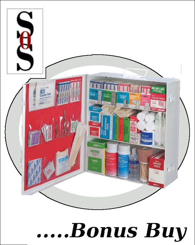 Three-Shelf 25 Person Durable Metal Industrial First Aid Cabinet