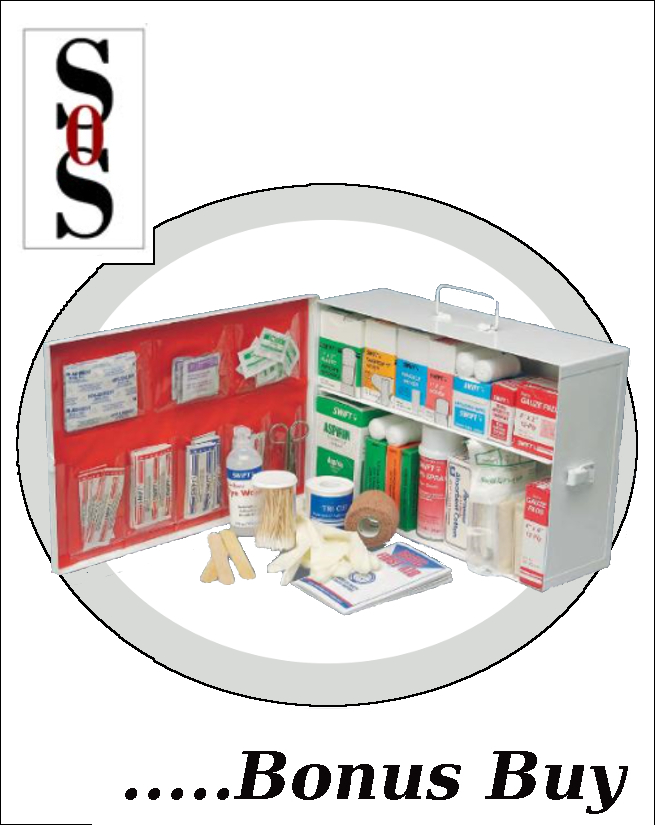 Two-Shelf 10 Person Metal Mobile Utility First Aid Kit