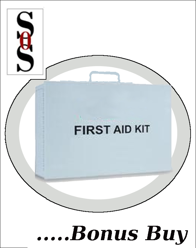 Empty Two-Shelf 10 Person First Aid Kit