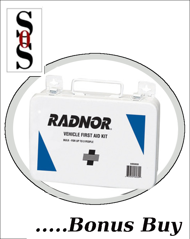 3 Person Vehicle First Aid Kit In Metal Case