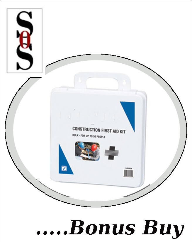 50 Person Bulk Construction First Aid Kit