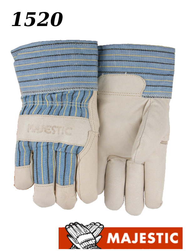 Majestic 1520, Pigskin Palm Leather, Polyester Fiber Lined, Gauntlet Cuff Work Gloves/$ per Dozen
