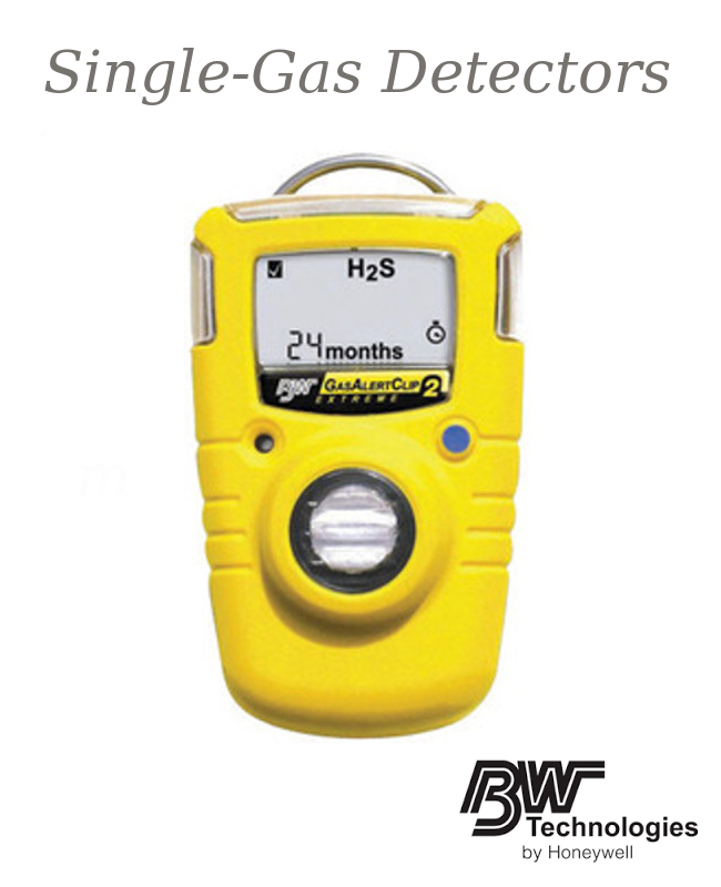 BW Technologies 2 Year GasAlertClip Extreme Portable Carbon Monoxide Monitor With Non-Replaceable Li-Ion Battery, Data Logging And Internal Vibrating Alarm