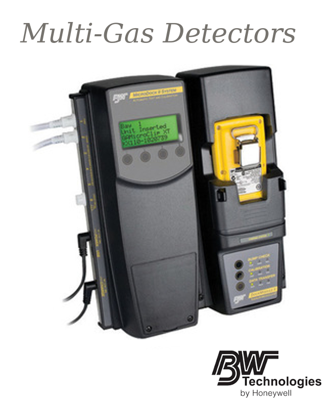 """BW Technologies by Honeywell 8.3"""" X 10.4"""" X 3.2"""" MicroDock II Base Station With GasAlertMicroClip XT Module Charger, Power Supply And (2) Gas Inlet And Power Supply"""