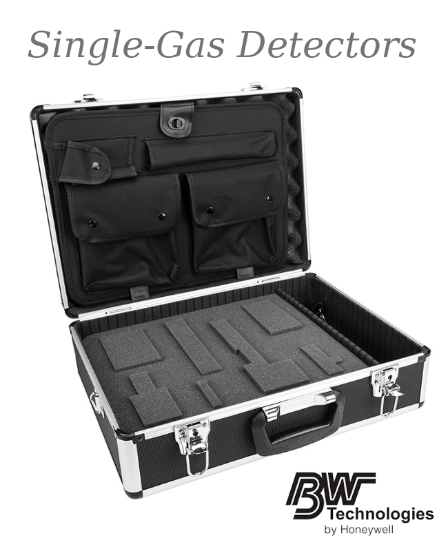 BW Technologies Hard Sided Carrying Case With Foam And Lid Insert For Use With GasAlertMicroClip XT Multi-Gas Monitors