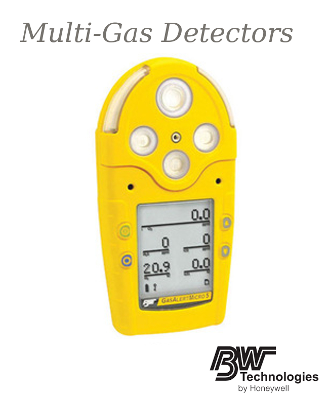 GasAlertMicro 5 IR Multigas Monitor with Rechargeable Battery - Combustible Gas, Carbon Monoxide, Hydrogen Sulphide, Sulfur Dioxide And Oxygen