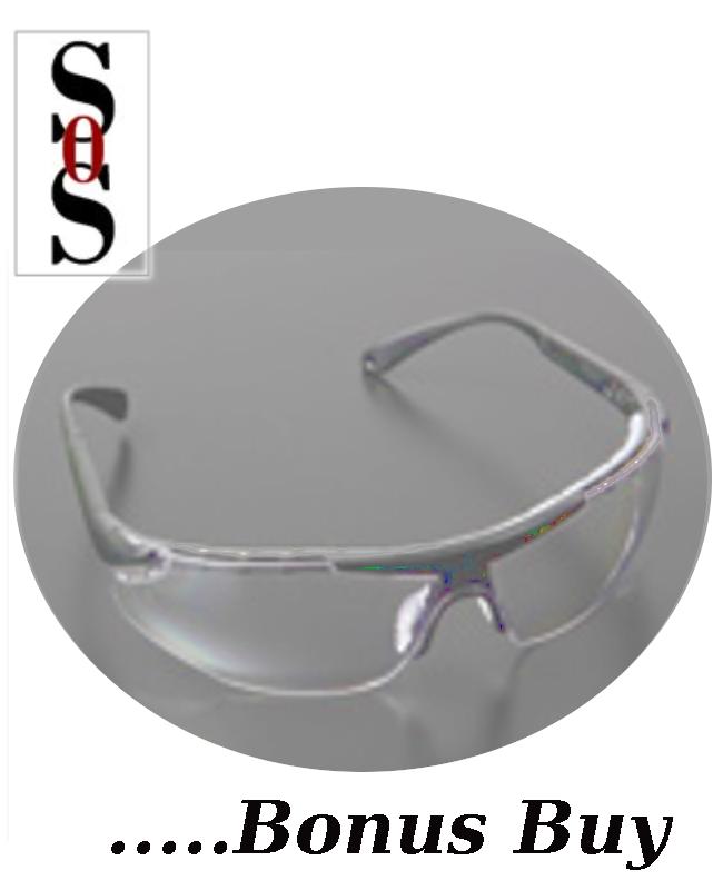 Elite Plus Eyewear - Clear Lens with Black Frame