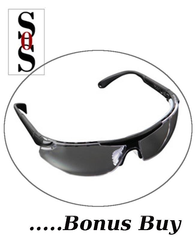 Elite Plus Eyewear - Clear Indoor/Outdoor Lens with Black Frame