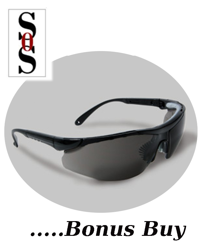 Elite Plus Eyewear - Gray Lens with Black Frame