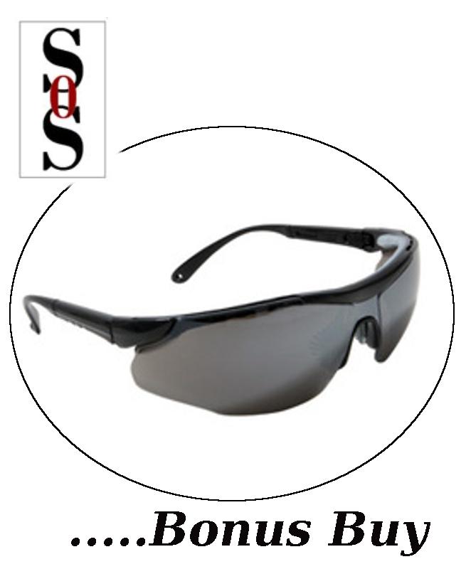 Elite Plus Eyewear - Silver Mirror Lens with Black Frame      64051605