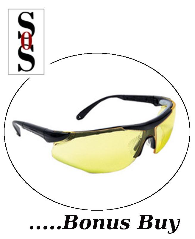 Elite Plus Eyewear - Amber Lens with Black Frame